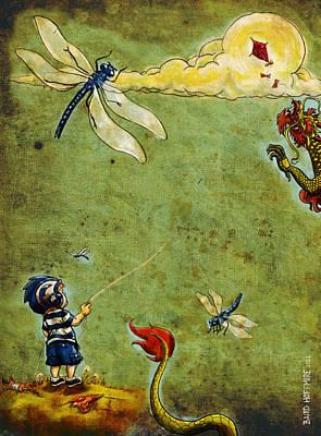 Enter The Dragon Art Print by Baird Hoffmire