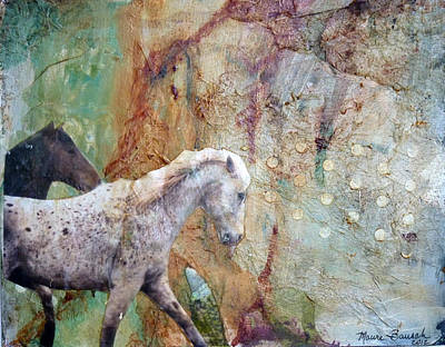 American West Mixed Media - Entering Dream Canyon by P Maure Bausch