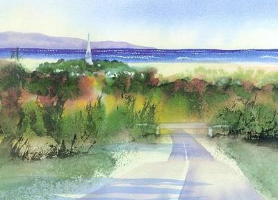 Cape Cod Bay Painting - Entering Sandwich by Joseph Gallant