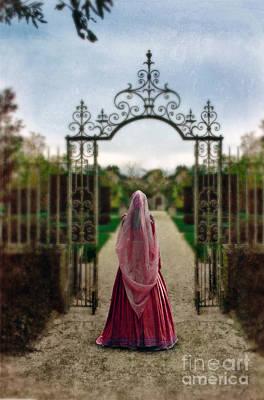 Entering The Garden Art Print by Jill Battaglia