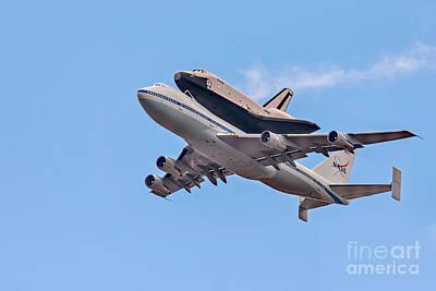 Enterprise Space Shuttle  Art Print by Susan Candelario