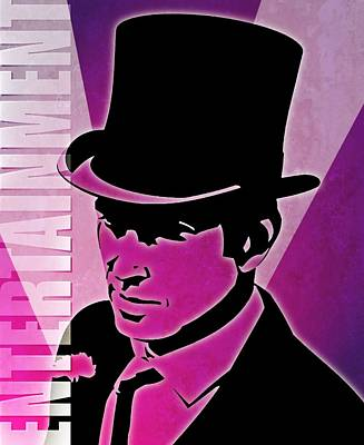 Entertainment Poster With Man In Top Hat Art Print by Photos.com