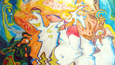 Painting - Entheogen Magic 2 by Raul Morales