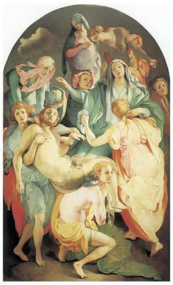 Entombment Art Print by Jacopo Da Pontormo