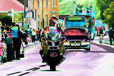 Police Art Photograph - Entourage by Sharon Lisa Clarke