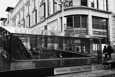 New Glasgow Photograph - Entrance To Buchanan Street Subway Glasgow Scotland Uk by Joe Fox