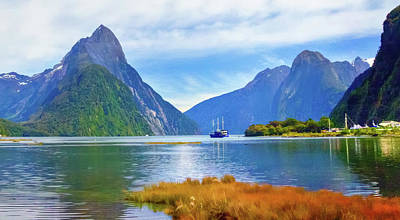 Photograph - Entrance To Milford Sound by Harry Strharsky