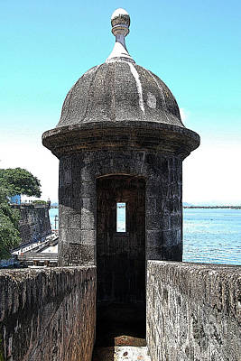 Entrance To Sentry Tower Castillo San Felipe Del Morro Fortress San Juan Puerto Rico Poster Edges Art Print