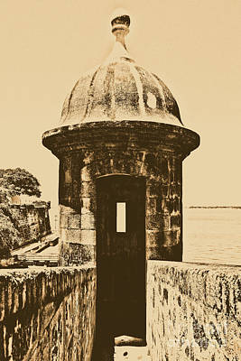 Entrance To Sentry Tower Castillo San Felipe Del Morro Fortress San Juan Puerto Rico Rustic Art Print