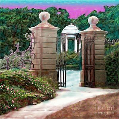 Entrance To The Garden Art Print by Earl Jackson
