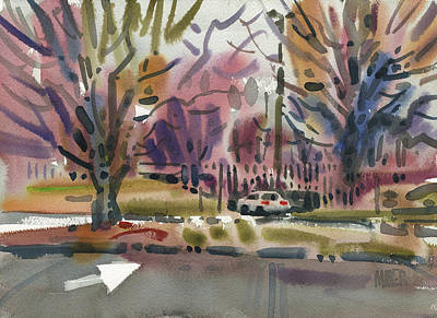 Parking Painting - Entrance To The Mall by Donald Maier