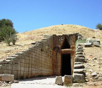 Photograph - Entrance To The Royal Tombs And The Treasury Of Atreus Agamemnon In Mycenae Greece by John Shiron
