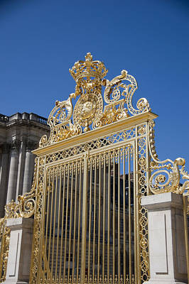 Entry Gate To Palace Of Versailles Paris France Art Print by Jon Berghoff