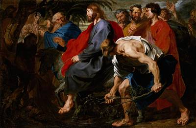 Entry Of Christ Into Jerusalem Art Print by Sir Anthony Van Dyck