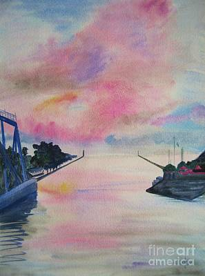Entry To Lake Ontario Print by Judy Via-Wolff