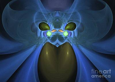 Digital Art - Envy - Abstract Digital Art by Sipo Liimatainen