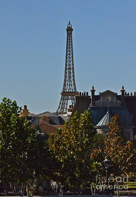 Photograph - Epcot Eiffel Tower by Carol  Bradley