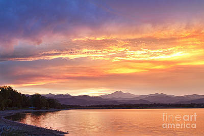 Epic August Colorado Sunset  Art Print by James BO  Insogna