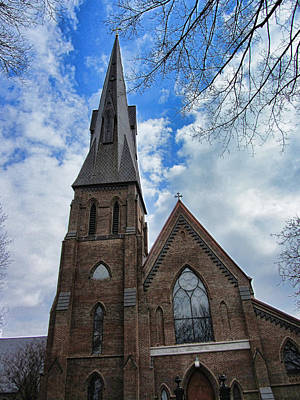 Downtown Huntsville Photograph - Episcopal Church Of The Nativity - Historical Church In Downtown Huntsville Alabama by Kathy Clark