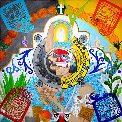 Painting - Epocalypto by Guadalupe Herrera