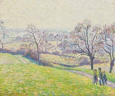 Field. Cloud Painting - Epping Landscape by Camille Pissarro