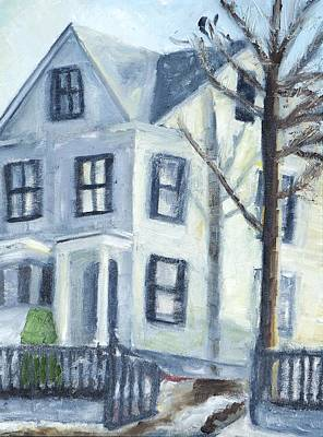 New Hampshire Artist Painting - Epping New Hampshire House by Maurice Pelissier