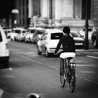 Equestrian Bike Rider Art Print