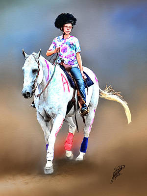 Equestrian Competition II Art Print by Tom Schmidt