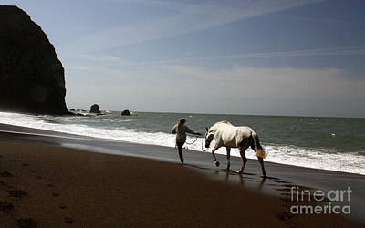 Equestrian Surf Print by Juan Romagosa