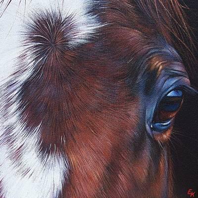 Equine 1 Art Print by Elena Kolotusha