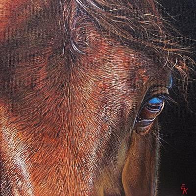 Painting - Equine 2 by Elena Kolotusha