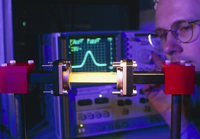 Equipment For Superluminal Microwaves Art Print by Volker Steger