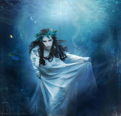 Mermaid Artwork Digital Art - Era Aequora by Amalia Iuliana Chitulescu