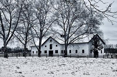 Erdenheim Farm In The Snow Art Print by Bill Cannon