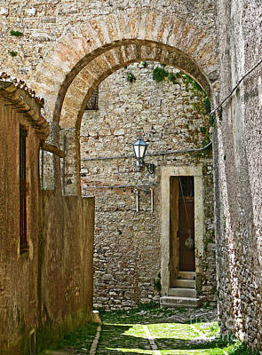 Erice Photograph - Erice Sicily Street by Jeanne  Woods