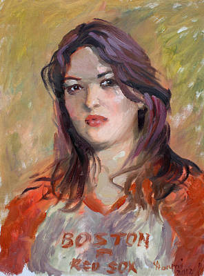 Red Sox Painting - Eriola by Ylli Haruni