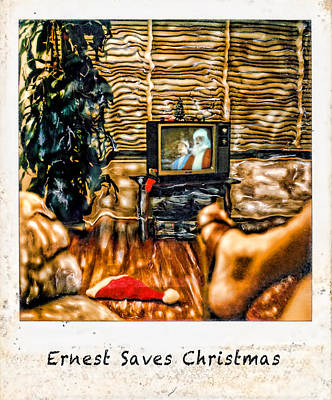 Ernest Saves Christmas Art Print by Lou  Novick