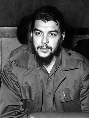 Ernesto Che Guevara Steps Off A Plane Art Print by Everett