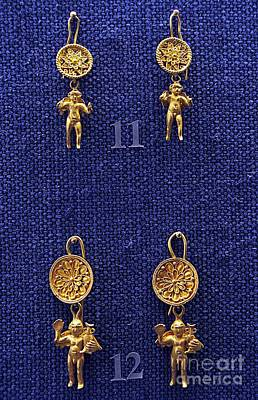 Ancient Earrings Photograph - Erotes Earrings by Andonis Katanos