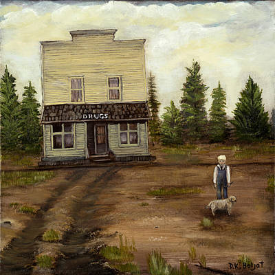 Drug Stores Painting - Errand Day by Darla  Boljat