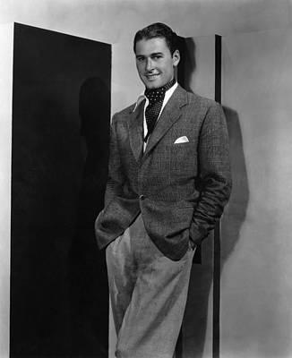 Ascot Photograph - Errol Flynn, Ca. 1935 by Everett