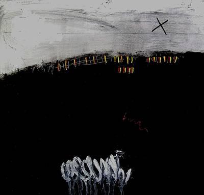 Eruption  Vii Art Print by Jorgen Rosengaard