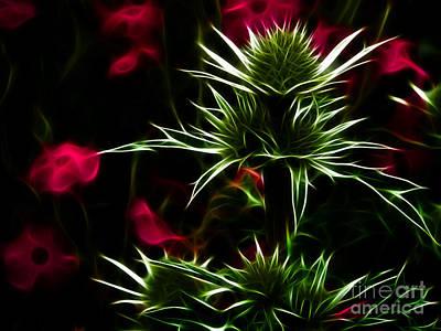 Digital Art - Eryngium Maritimum by Yvonne Johnstone