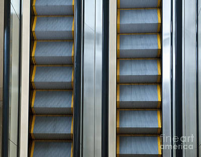 Escalators Art Print by Dave & Les Jacobs
