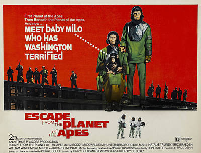 Escape From The Planet Of The Apes, L-r Art Print by Everett