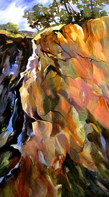 Art Print featuring the painting Escarpment by Rae Andrews
