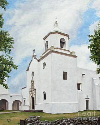 Art Print featuring the painting Espiritu Santo Mission by Jimmie Bartlett