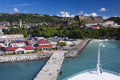 Esplanade Area From Cruise Ship At Wharf Art Print by Richard Cummins