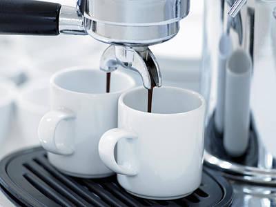 Espresso Machine Making Coffee Art Print by Adam Gault