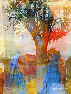 Faniart Africa America Mixed Media - Esprit Du Baobab by Fania Simon